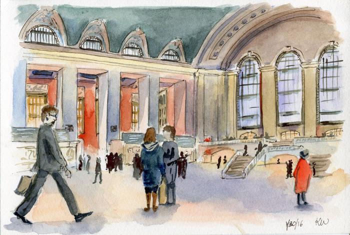 New York Urban Sketchers: Grand Central