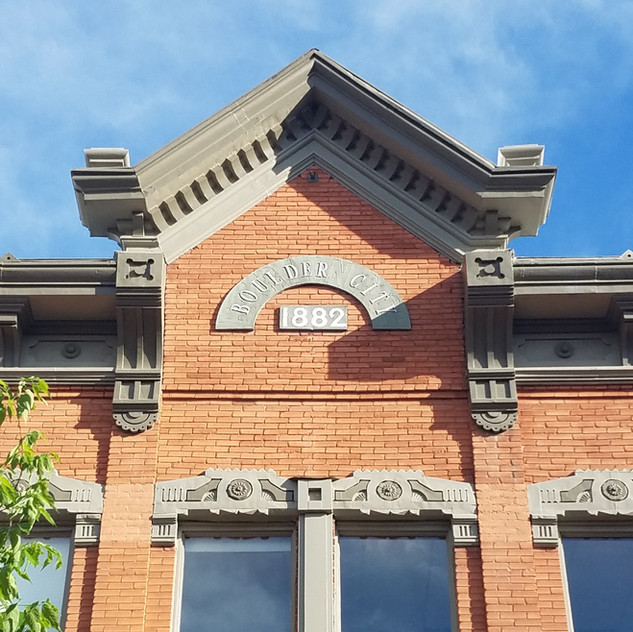 Boulder had its fair share of great lettering and architectural details, too!