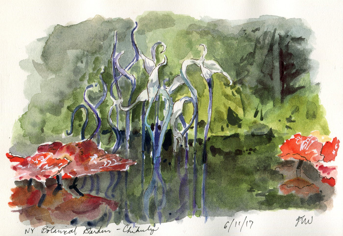 NYC Urban Sketchers invade the NY Botanical Gardens
