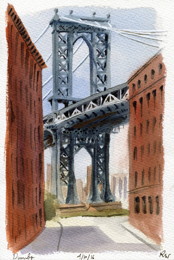 The NYC Urban Sketchers visit Dumbo