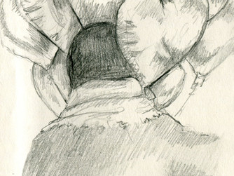 A Post-Valentine's Sketch from the Subway