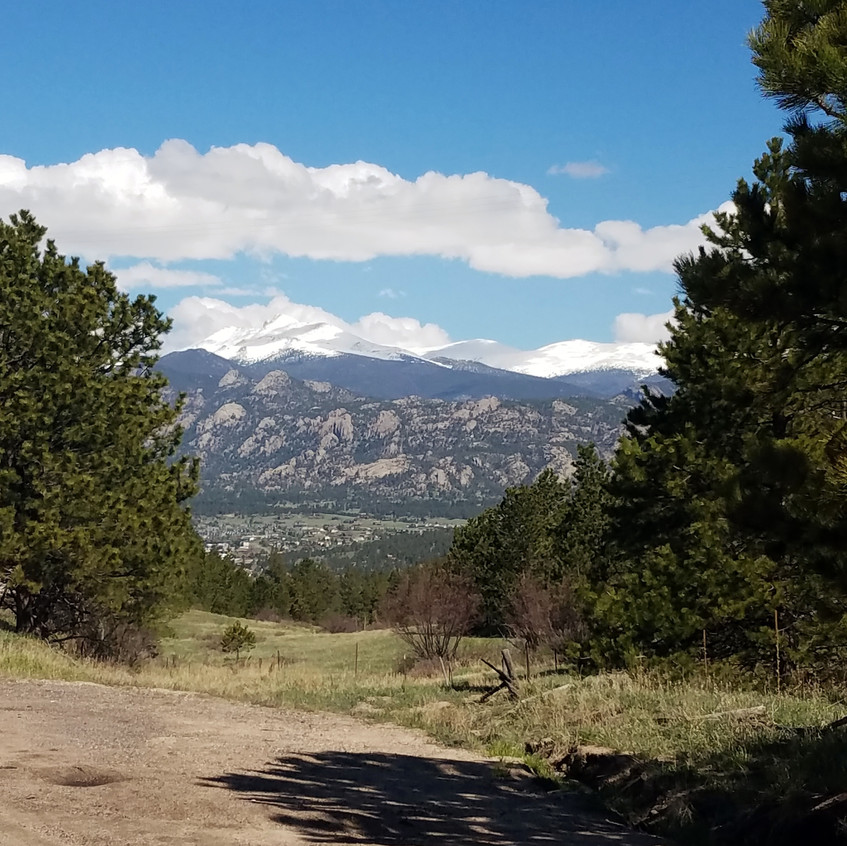 My first view of the Rockies for the day!