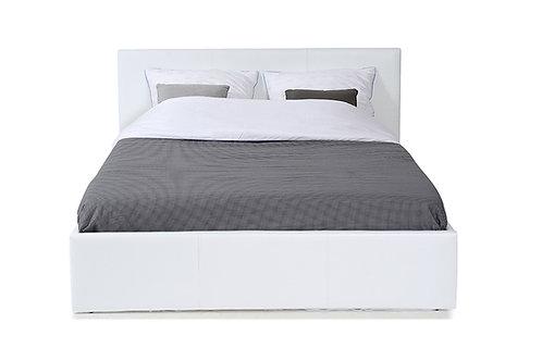 Lit coffre BASTIEN 720B140 Blanc 140×190