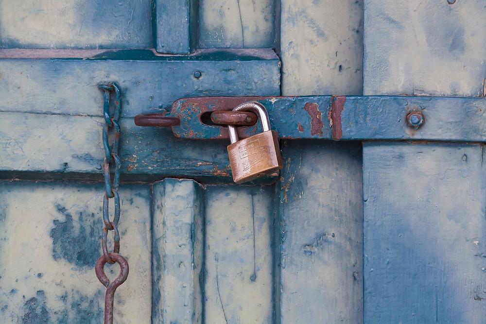 Lock on old door