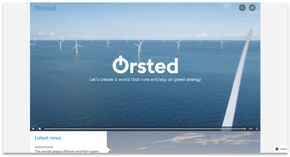 Ørsted's homepage