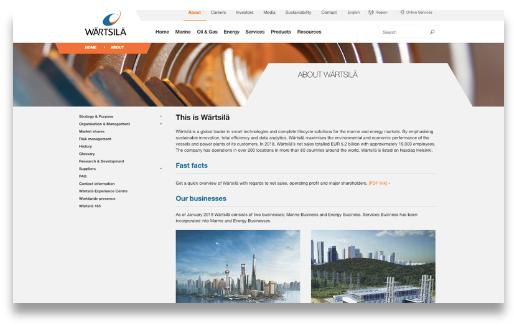 Wartsila business areas