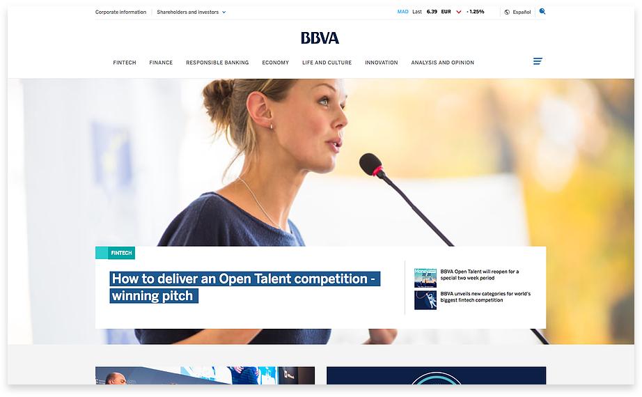 BBVA new homepage
