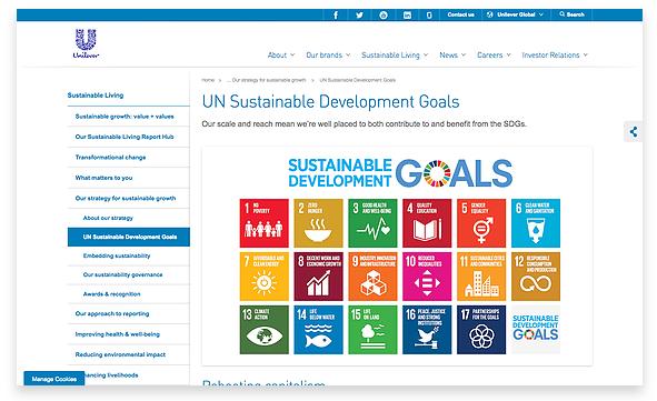 Unilever's approach to UN SDGs