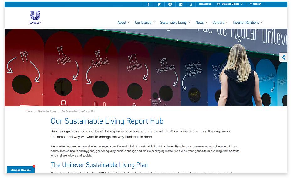 Unilever's SDGs reporting