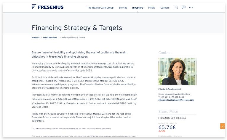 Fresenius financing strategy