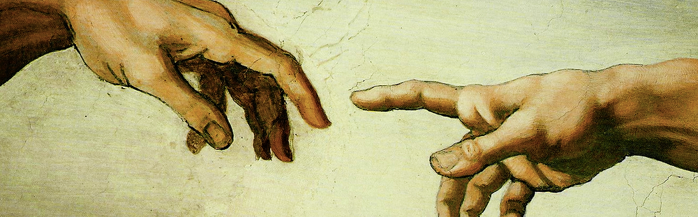Details of The Creation of Adam, Michelangelo