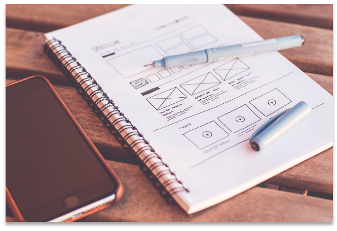Designing a wireframe