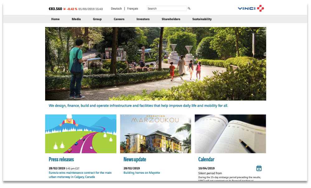 VINCI's homepage