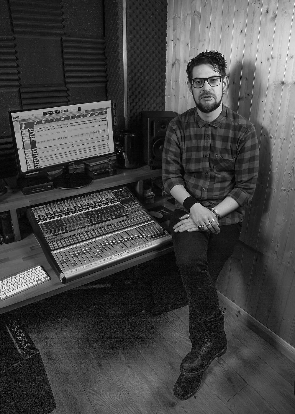 Matt in his studio