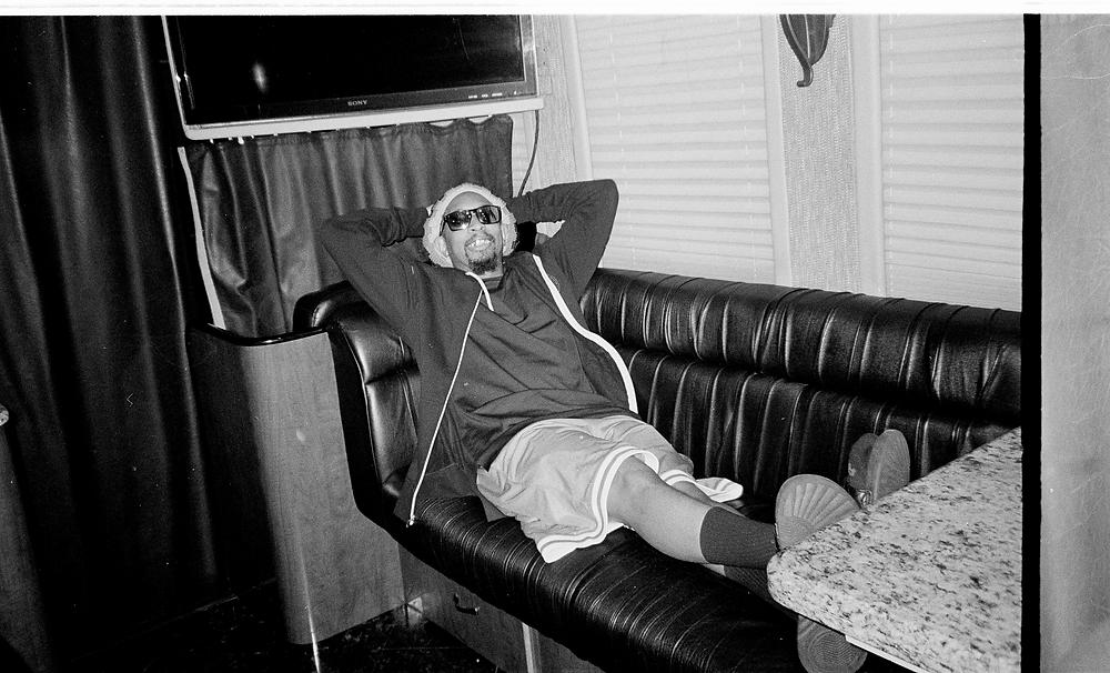 Jon on his tour bus in Savannah, Ga.