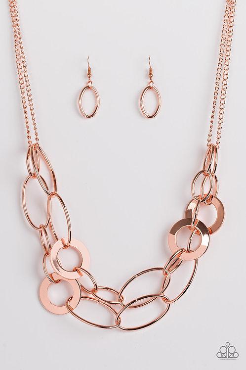 Metallic Maverick Necklace - Copper