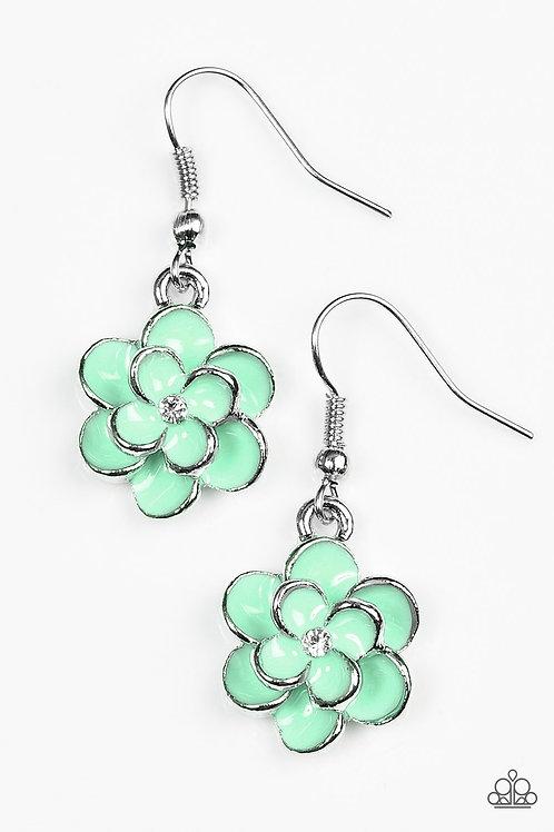 Merry Meadows Earrings - Green