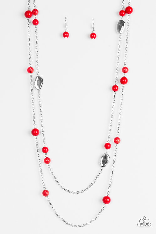 Hitting a Glow Point Necklace - Red