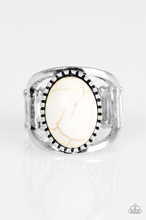 Canyon Cache Ring - White