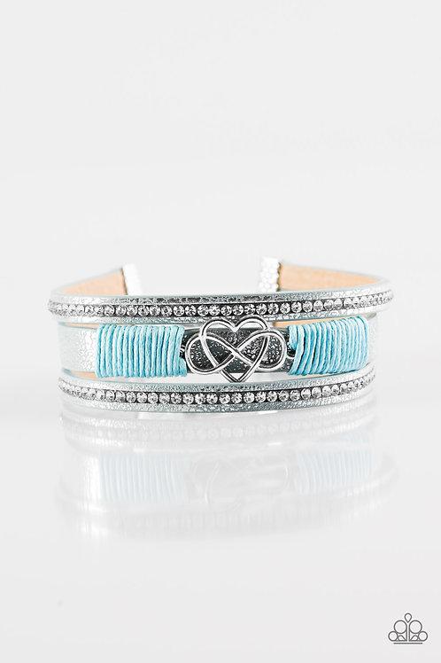 Hustlin Heart Bracelet - Blue