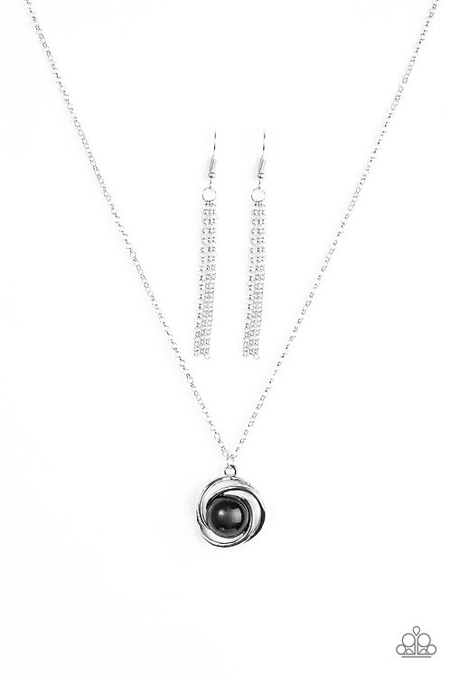 Ripple Effect Necklace - Black
