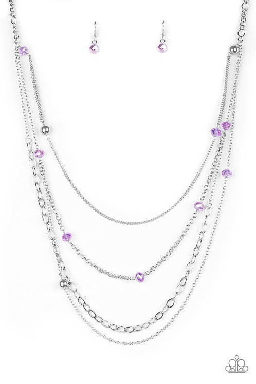 Glamour Grotto Necklace - Purple