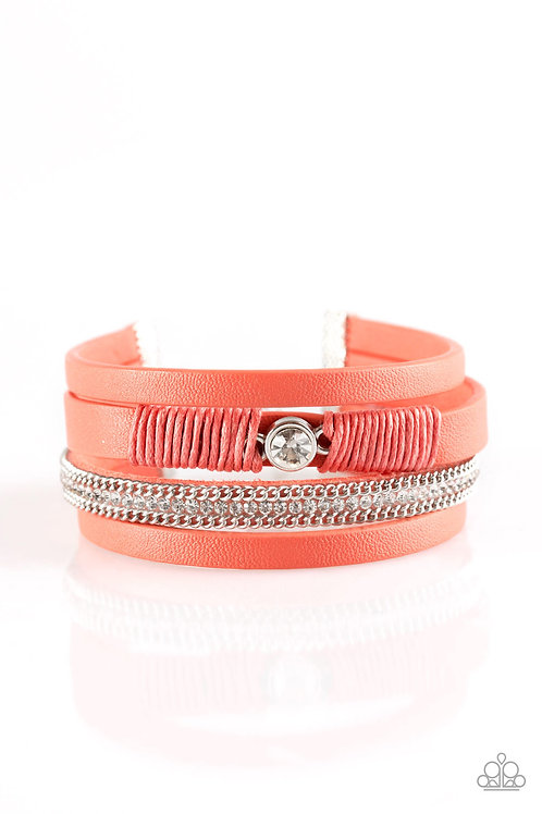 Catwalk Craze Bracelet - Orange