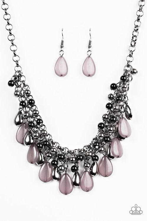 Diva Attitude Necklace - Black