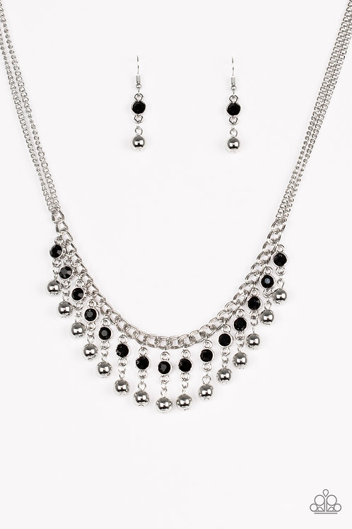 Pageant Queen Necklace - Black