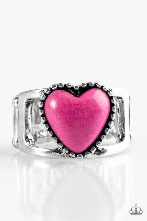 Rule with Your Heart Ring - Pink