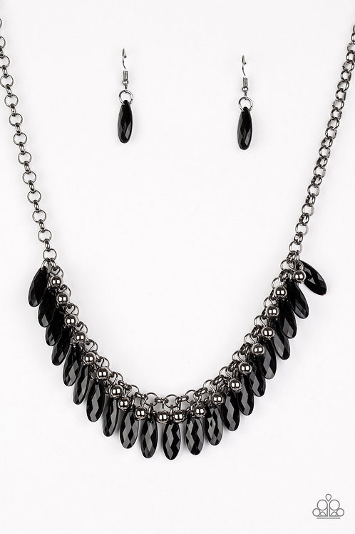 Jersey Shore Necklace - Black