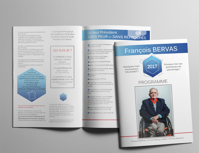 BROCHURE 16 PAGES - CANDIDATURE