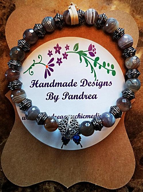 Handmade Botswana Agate Bracelet