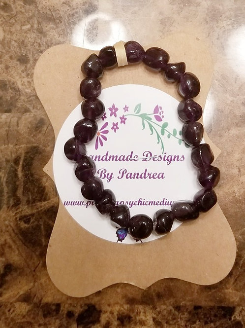 Handmade Deep Purple Amethyst Bracelet