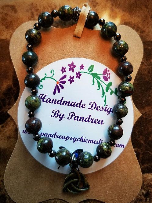 Handmade Bloodstone Bracelet