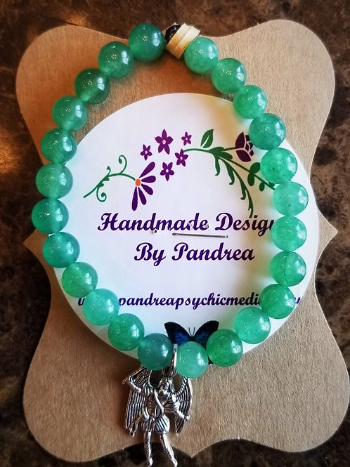 Handmade Light Green Jade Bracelet