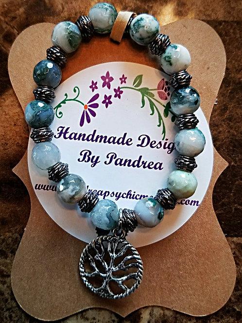 Handmade Tree Agate Bracelet