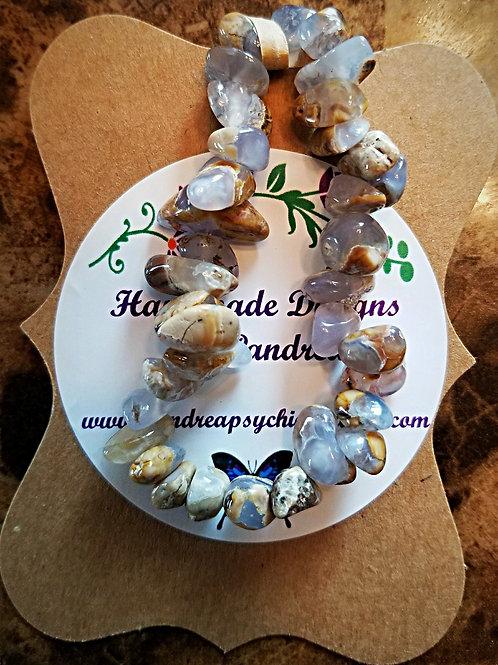 Handmade Natural Chalcedony Bracelet