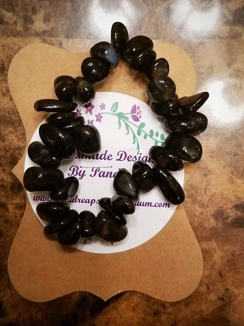 Handmade Black Agate Bracelet
