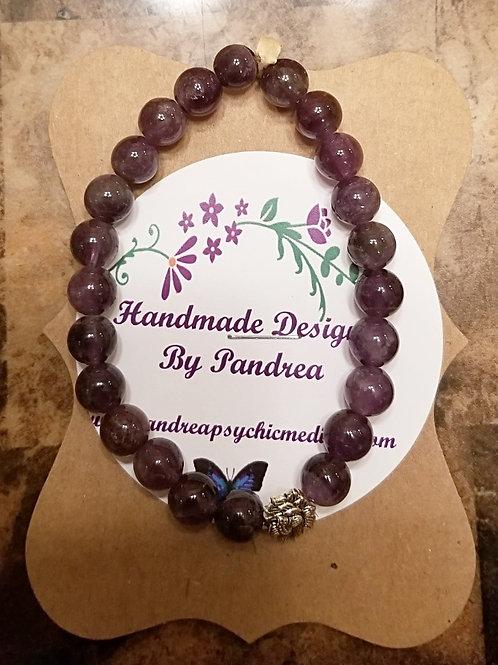 Handmade  Purple Amethyst Bracelet