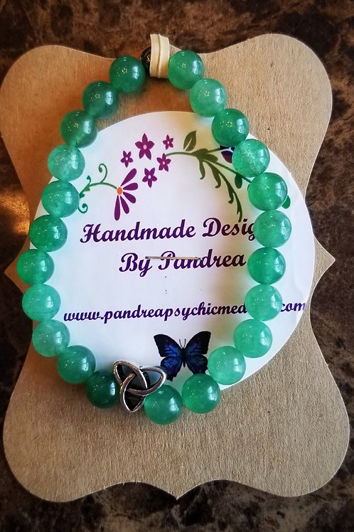 Handmade Light Green Jade Bracelet