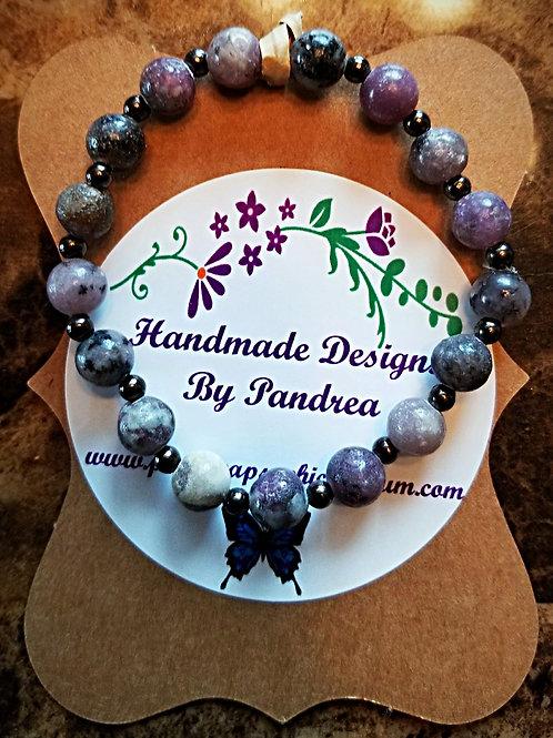 Handmade Lilac Jasper Bracelet