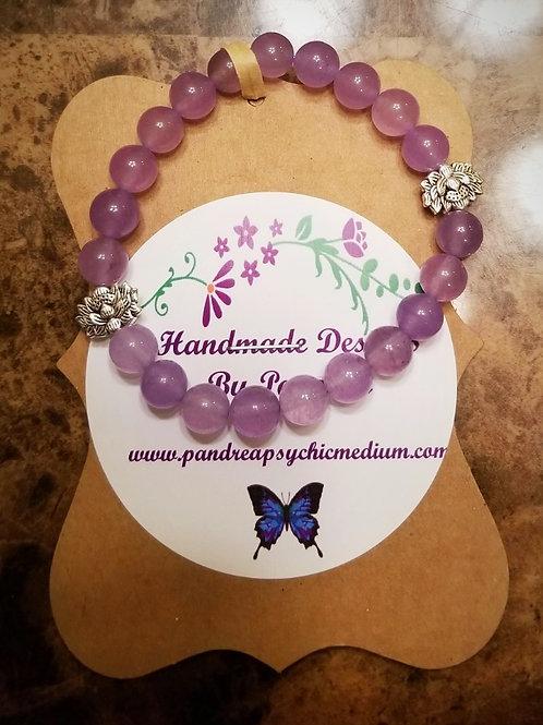 Handmade Lavendar Jade Bracelet
