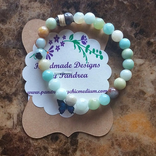 Handmade Multi-color Amazonite Bracelet