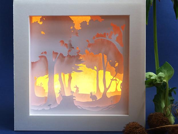 Héloïse Bossard Au Détour du Papier Lightbox Woodland animals