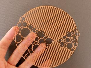 Héloïse Bossard Au Detour du Papier geometric minimalist papercut