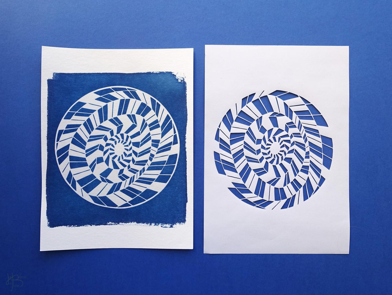 Spirale géométrique