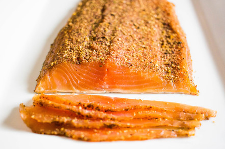 Pastrami Style Cold Smoked Trout