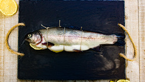 Whole Trout with Apple Mustard