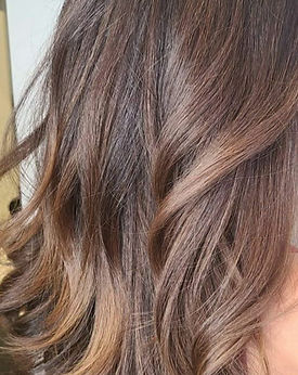 brown hair with light highlights
